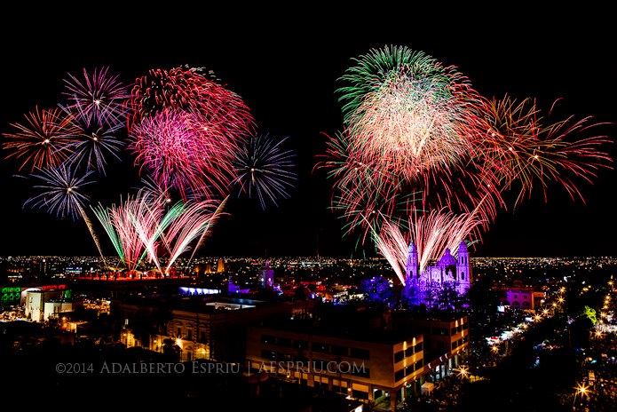 fine art photography - downtown hermosillo on independence day celebration 2014 - adalberto espriú